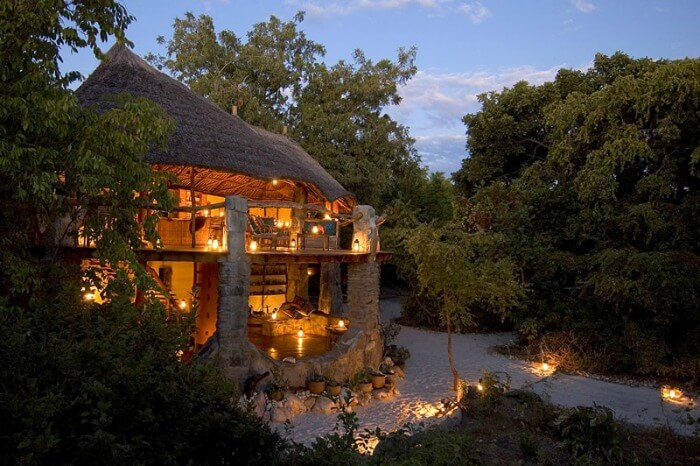 An outside view of the Nkwichi Lodge