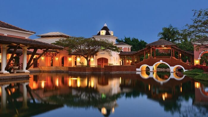 The poolside lagoon of the Park Hyatt Goa Resort and Spa