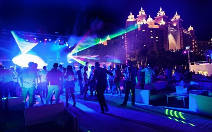 A happening party in the Palm Atlantis