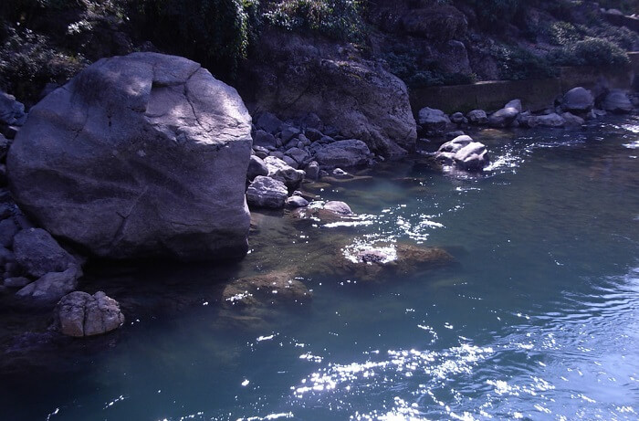 Reshi river and the famous Reshi hot springs in Sikkim
