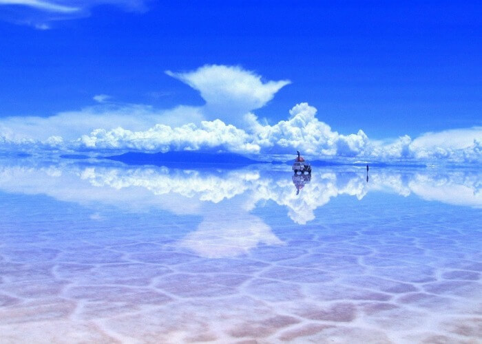 Clear blue waters of Bolivia in South America