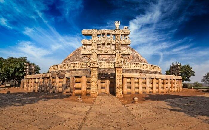 The famous Sanchi Stupa in Madhya Pradesh