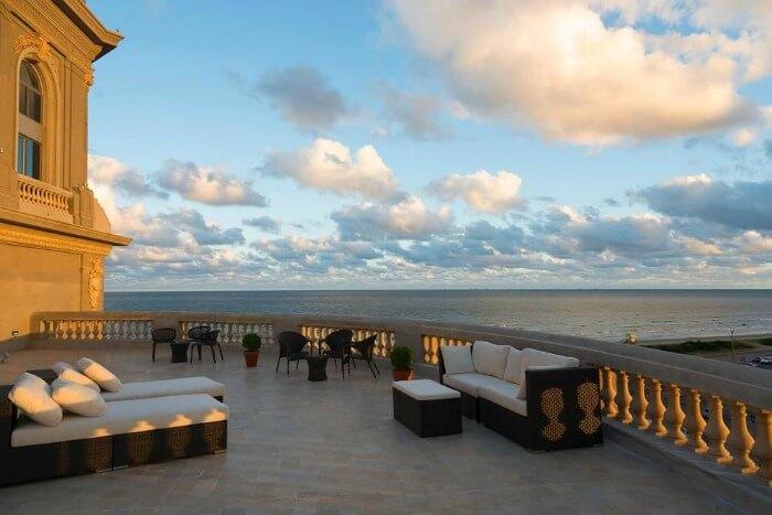 Terrace of the Sofitel Montevideo Casino Carrasco & Spa