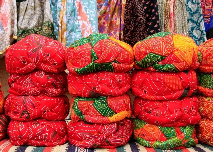 Buy traditional clothing from Sojati gate market