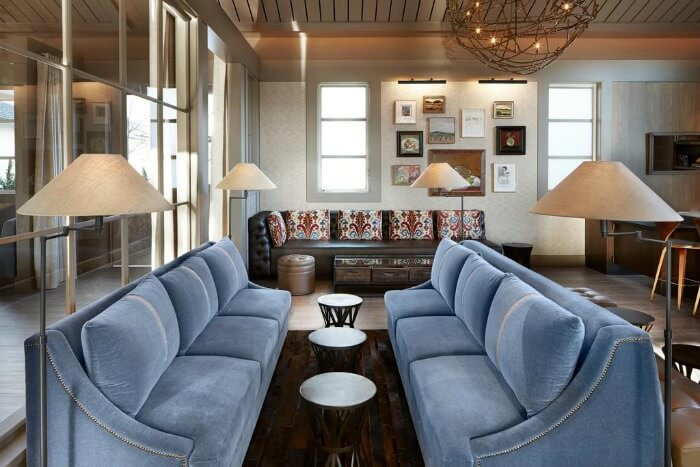 The luxurious interiors of the Solage Calistoga