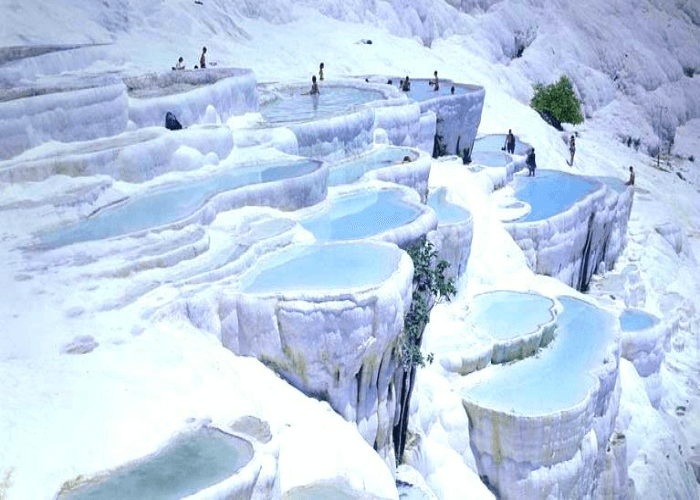 Pools of warm waters in Turkey