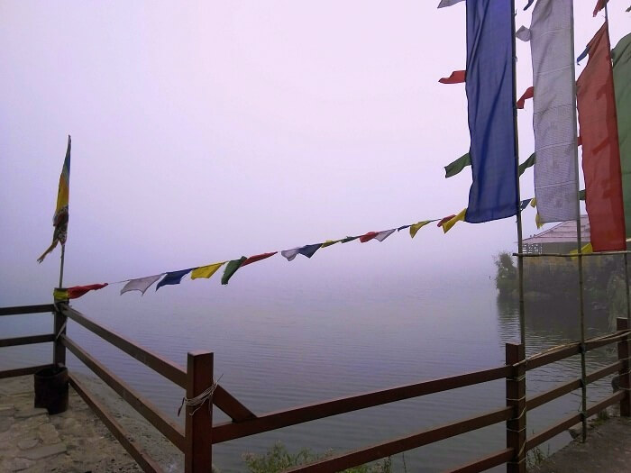 View of the Tsomgo lake in Sikkim