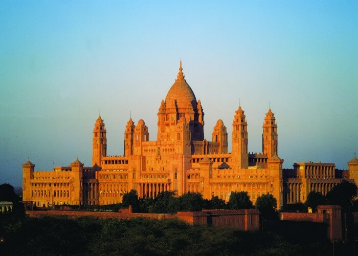The captivating view of the Umaid Bhavan Palace