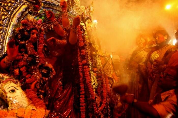 Durga Puja celebrations in Kolkata