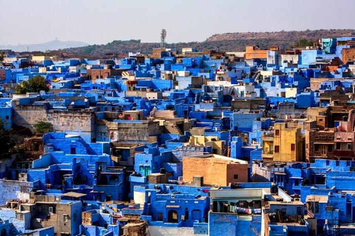 Aerial view of Jodhpur- the blue city