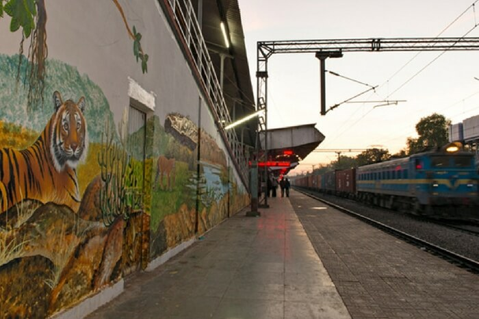 A view of Sawai Madhopur railway station