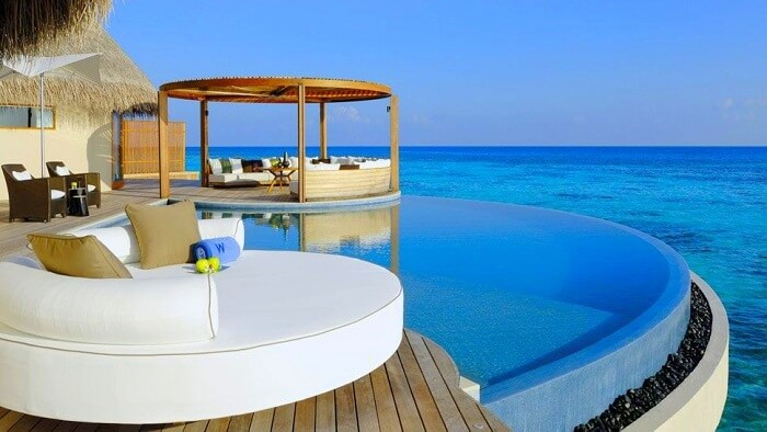 Pool overlooking the ocean at the W Retreat and Spa Maldives