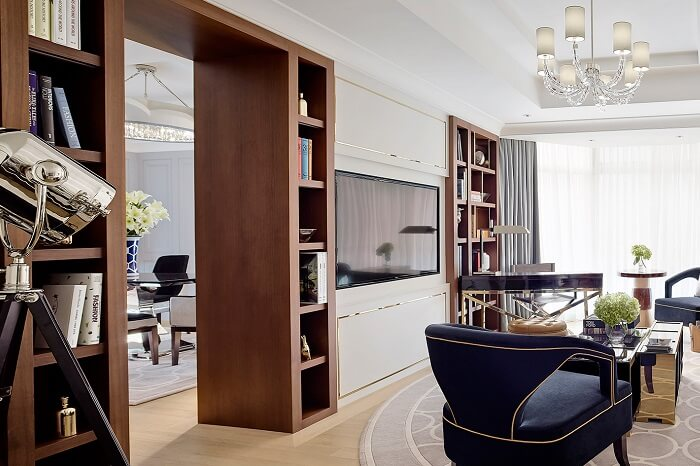 The luxurious Director Suite at the Langham hotel in Hong Kong