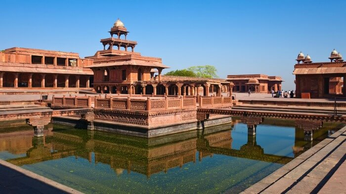 The delightful, crimson coloured Fatehpur Sikri