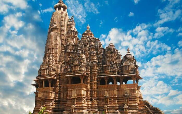 Manifestations of Apsaras and demi-gods at the Khajuraho temple