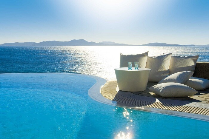 Beautiful pool in Mykonos Grand Hotel & Resort
