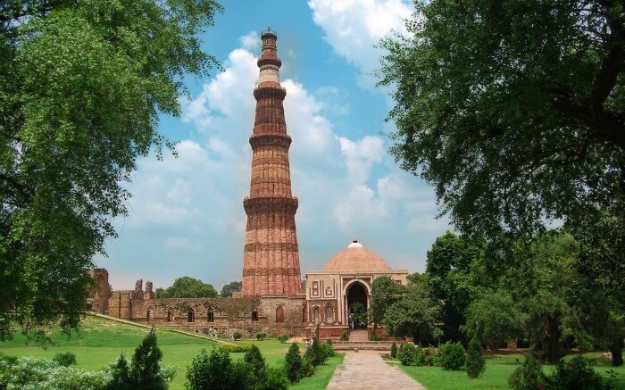 The tower of the Qutub Minar - one of the best historical places in India