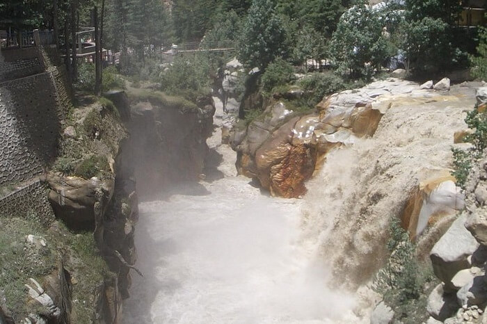 The beautiful Suryakund hot springs in the Gangotri region of Uttarakhand