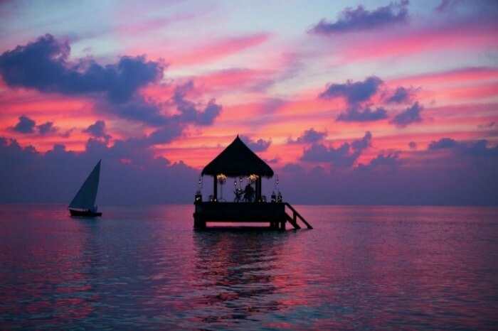 The floating shack at The Residence Maldives