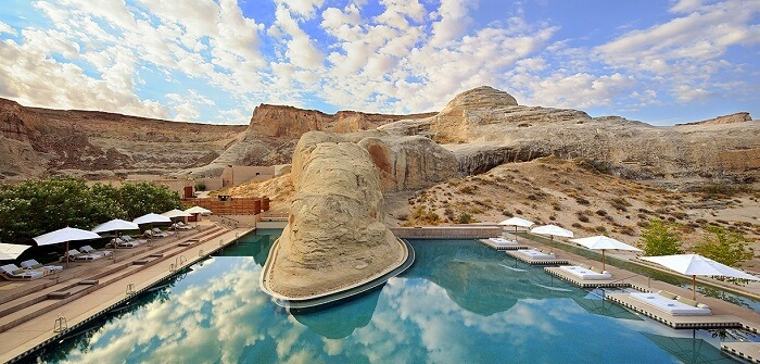 Exotic pool at the Amangiri resort in Utah