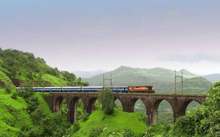 Railway line in Western Ghats region