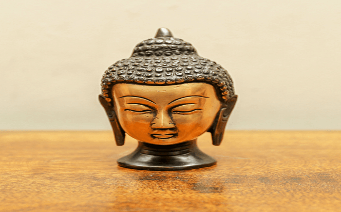 Buddha sculpture made of brass