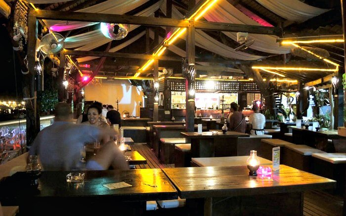An inside view of Carlito's Bar in Phi Phi Island