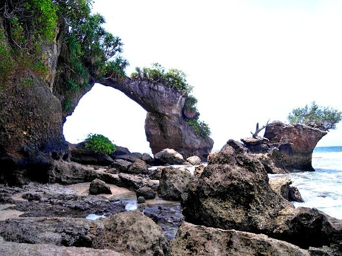 Rock Formation on Laxmanpur Beach