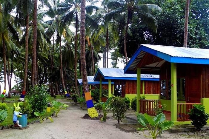 The AC cottages at the El Dorado Beach Resort in Havelock