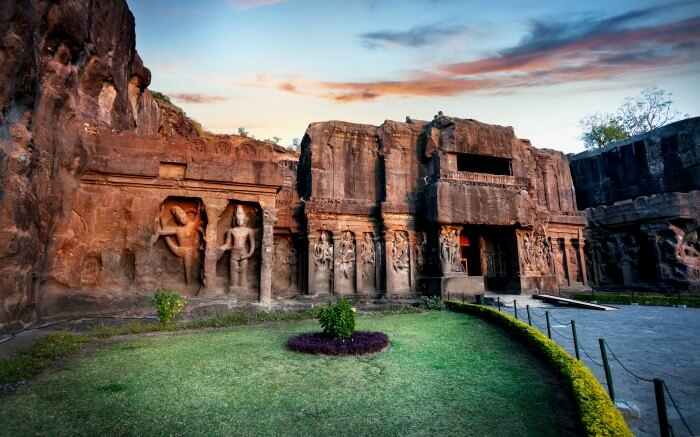 Kailas Temple facade in Ellora Caves