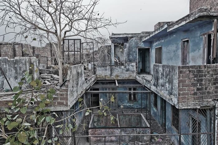 Ruins of the haunted House Number W-13 at GK-II in Delhi