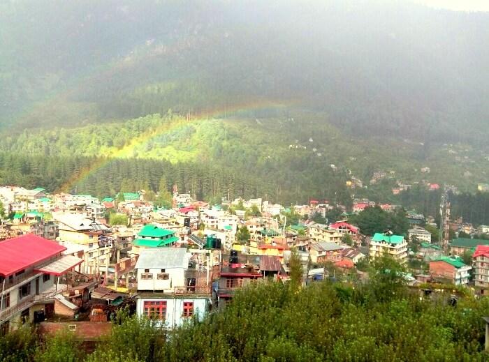 Beautiful rainbow in Manali