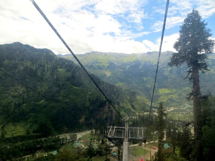View from the top of Ropeway in Solang Valley