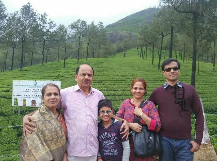 Gurudath and his family in Kerala