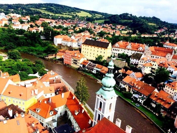 Picturesque view of Cesky Krumlov
