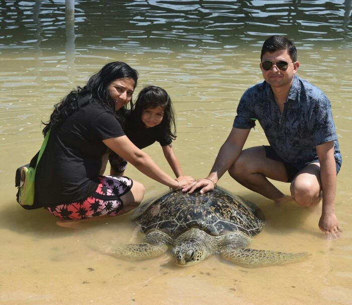 Mitaksh and his family in Bali