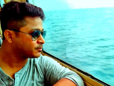 Soumyadip on his way to havelock island