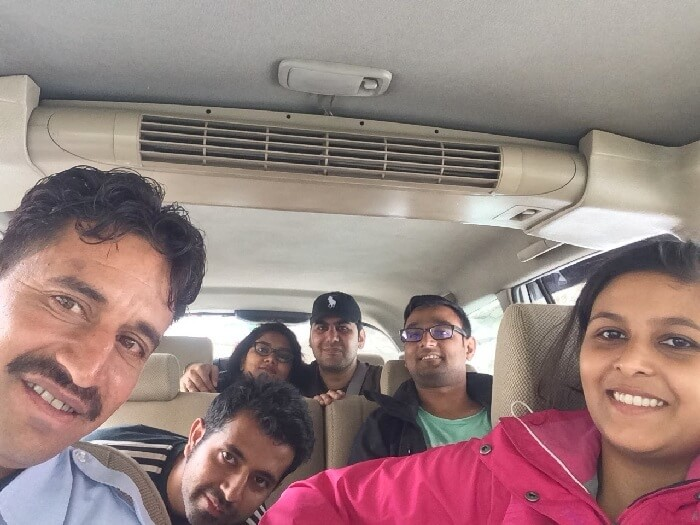 Sweta Nikkhil and their companions on a road trip to Spiti Valley