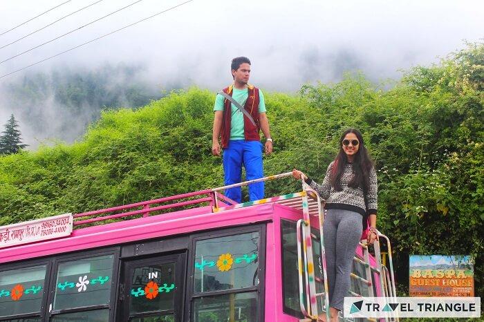 Lehan on a bus in Spiti Valley