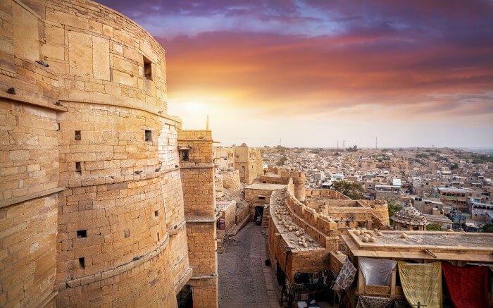 Lovely sunset view from Jaisalmer Fort