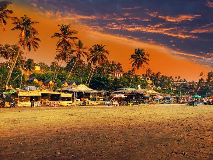 Beach shacks at Kozhikode Beach