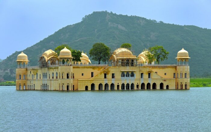 Jal Mahal located in Mansagar Lake one of the most popular lakes of Rajasthan