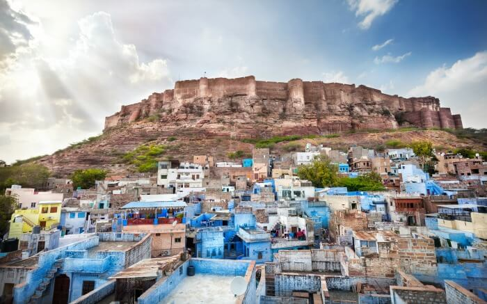 Mehrangarh Fort looking over the Blue City of Jodhpur
