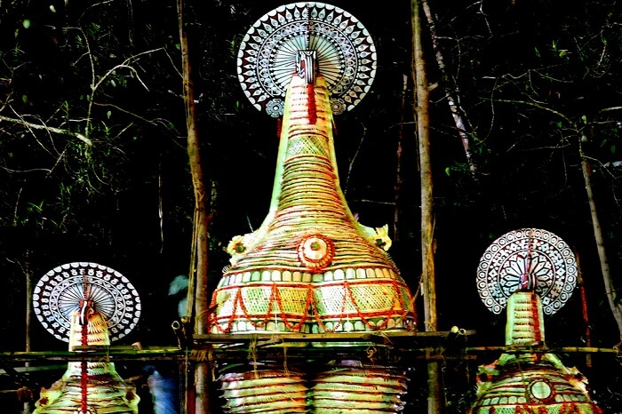 One of the beautiful sights from the Neelamperoor Padayani festival in Kerala