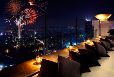 View of fireworks from Distil Lebua