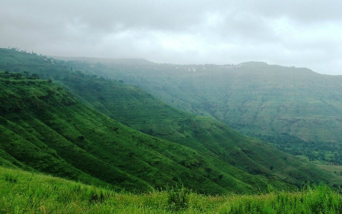 Serene mountainscape of Panchgani - one of the best camping sites near Pune