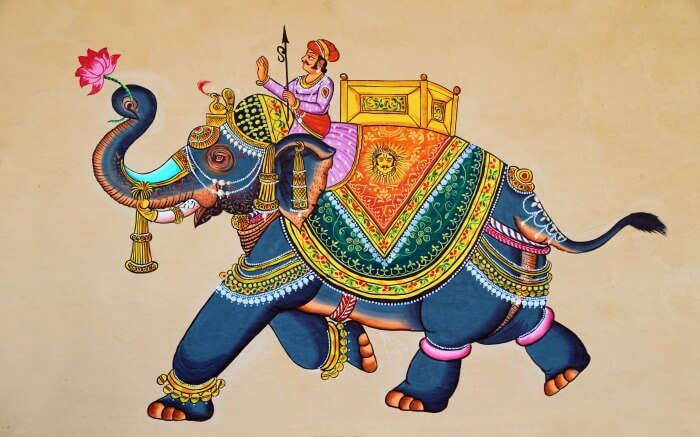 Traditional Rajasthani painting