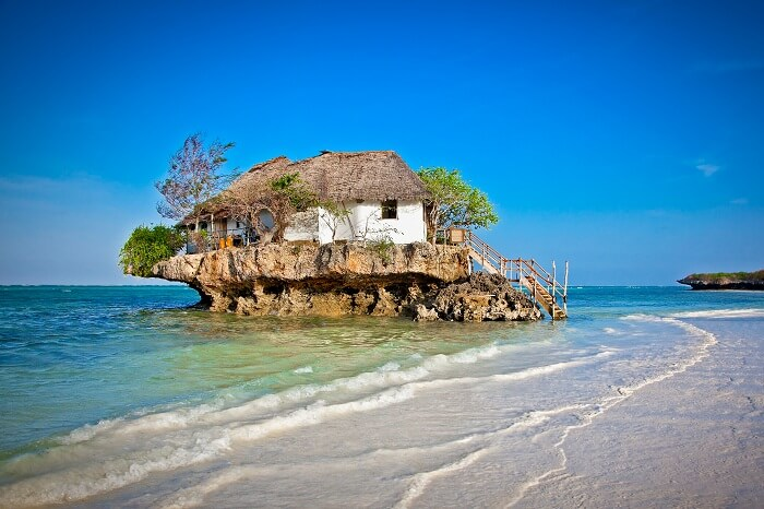 Rock Restaurant over the sea in Zanzibar