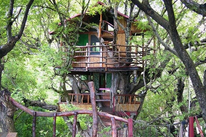 The Sanya Nanshan Treehouse accommodation in the Sanya city of Hainan