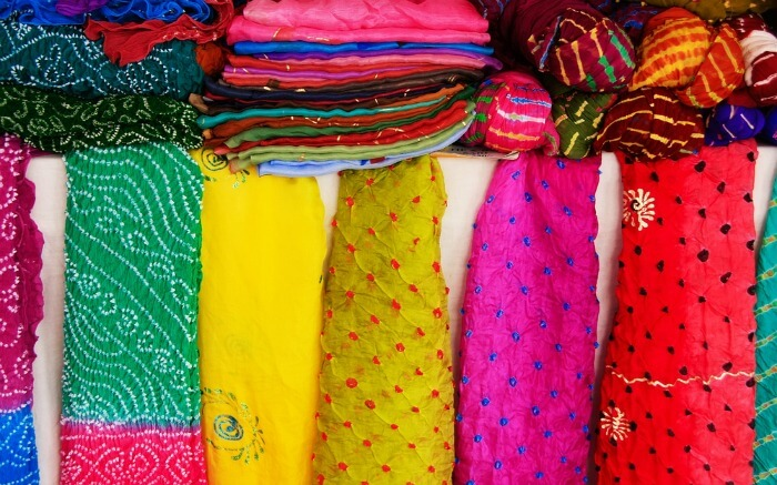 Colorful bandhani stoles